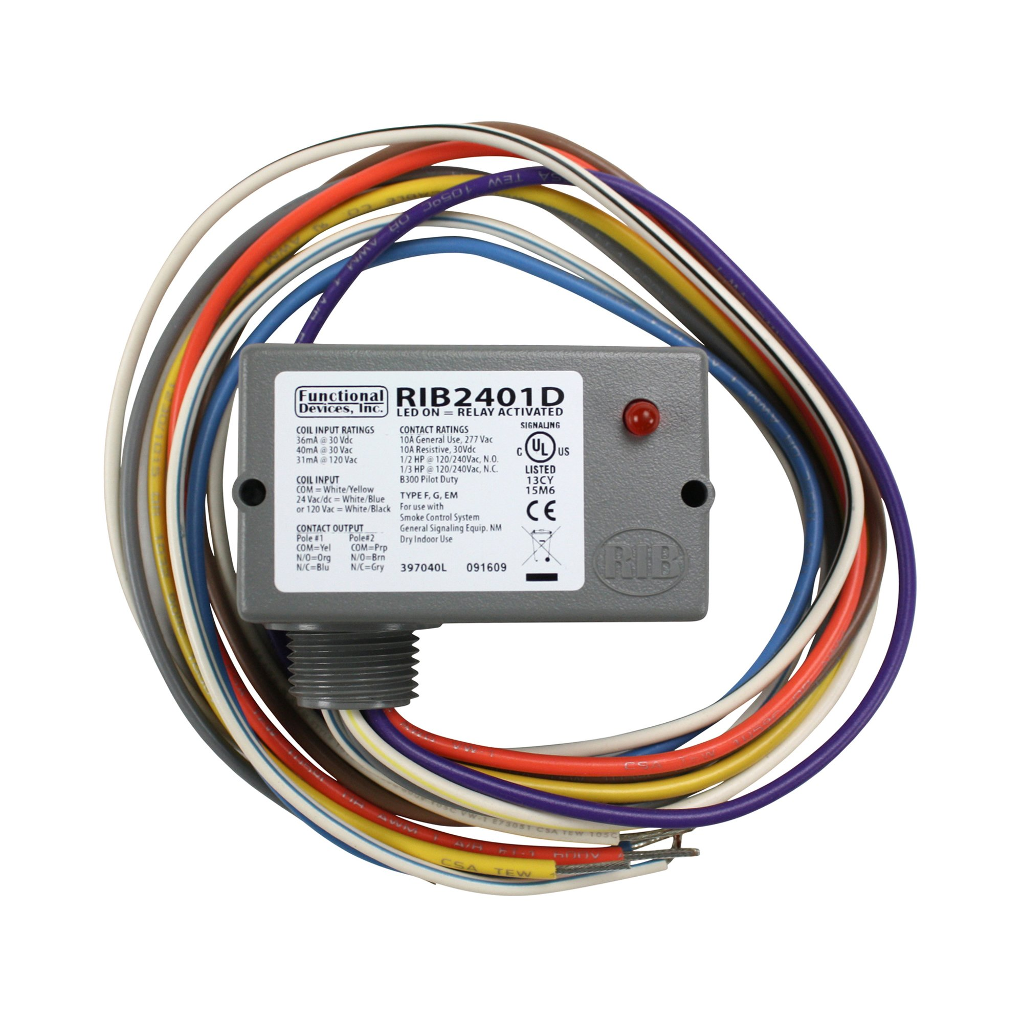 Best Rated In Electrical Relays Helpful Customer Reviews Relay Use Functional Devices Rib2401d Enclosed Pilot 10 Amp Dpdt With 24 Vac Dc