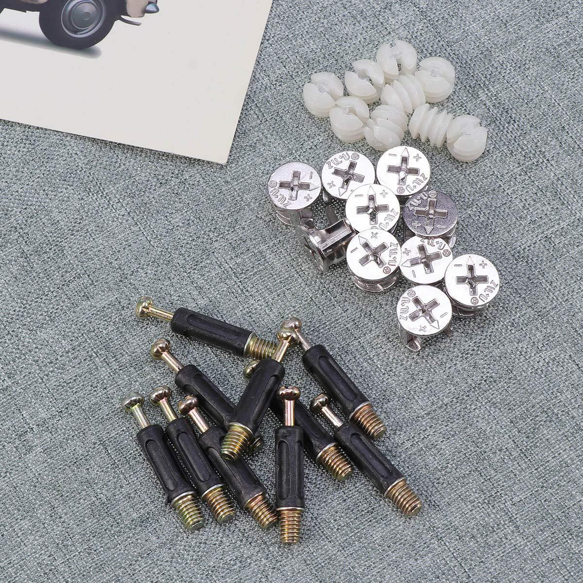 Yardwe Connecteurs de meubles Raccords /à came /Écrous pr/é-ins/ér/és Goujons /Écrou /à visser pour meubles en bois Tiroir de placard 10 Ensembles