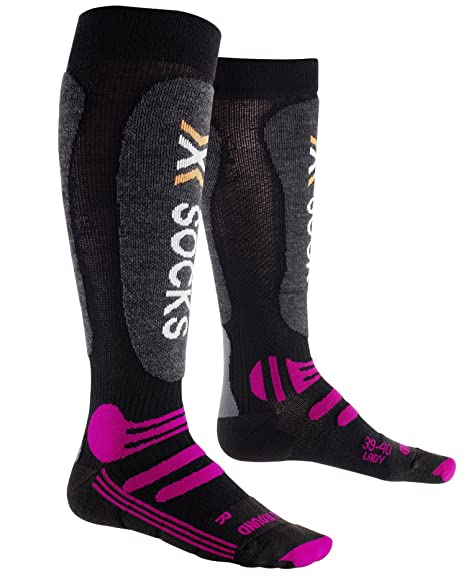 X-Socks Sidas ski all round lady - Calcetines, color negro, talla 35