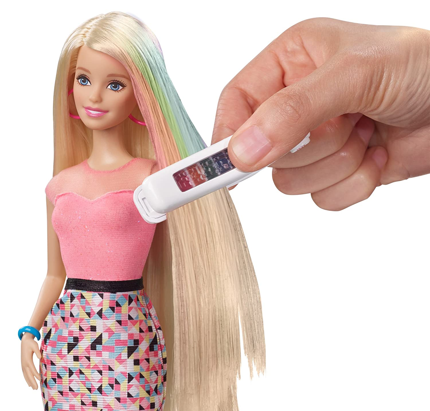 Buy Barbie Rainbow Hair Doll Multi Color Online At Low Prices In - Barbie hairstyle design game