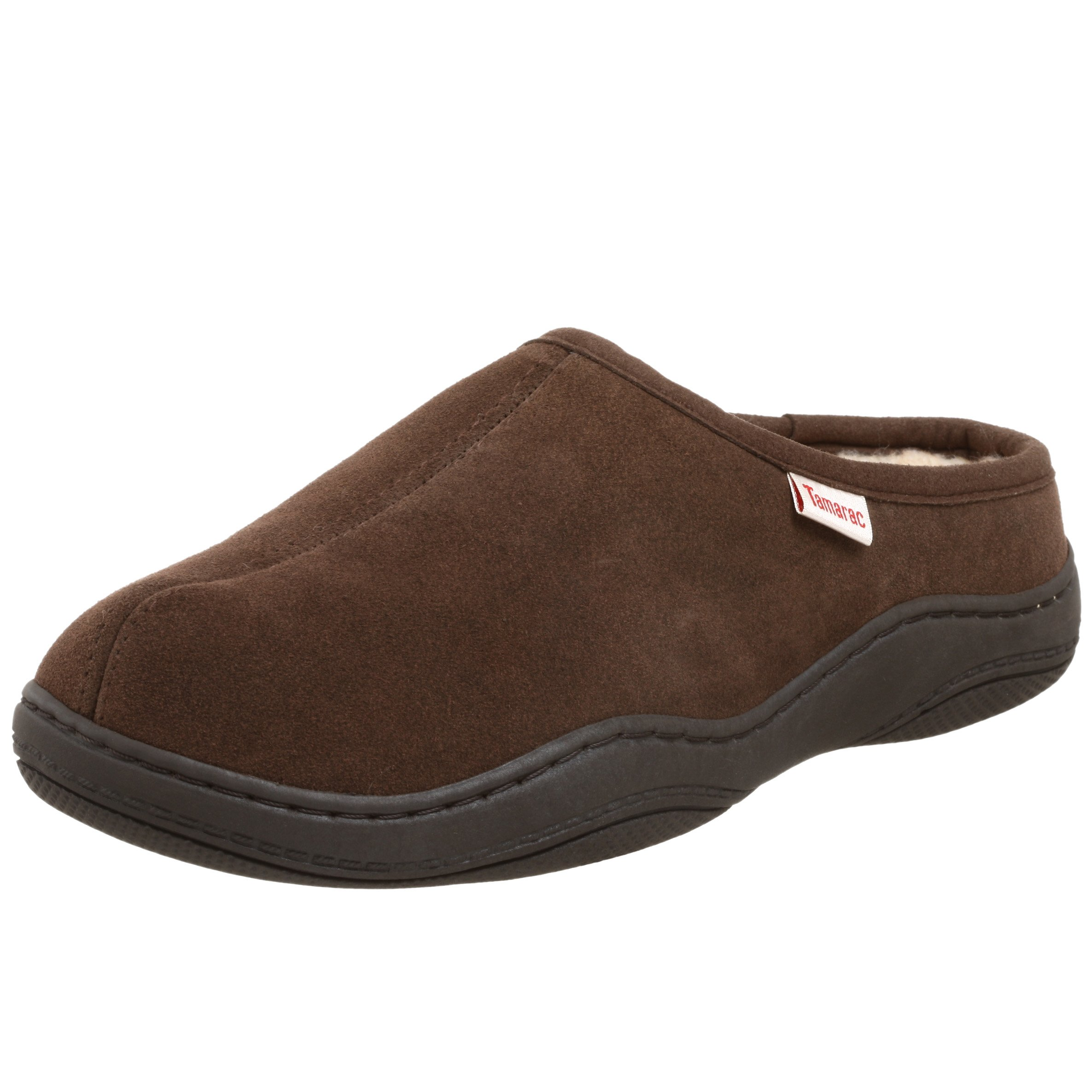 Tamarac by Slippers International Men's Scuffy 8117 Clog Slipper,Rootbeer,11 M US