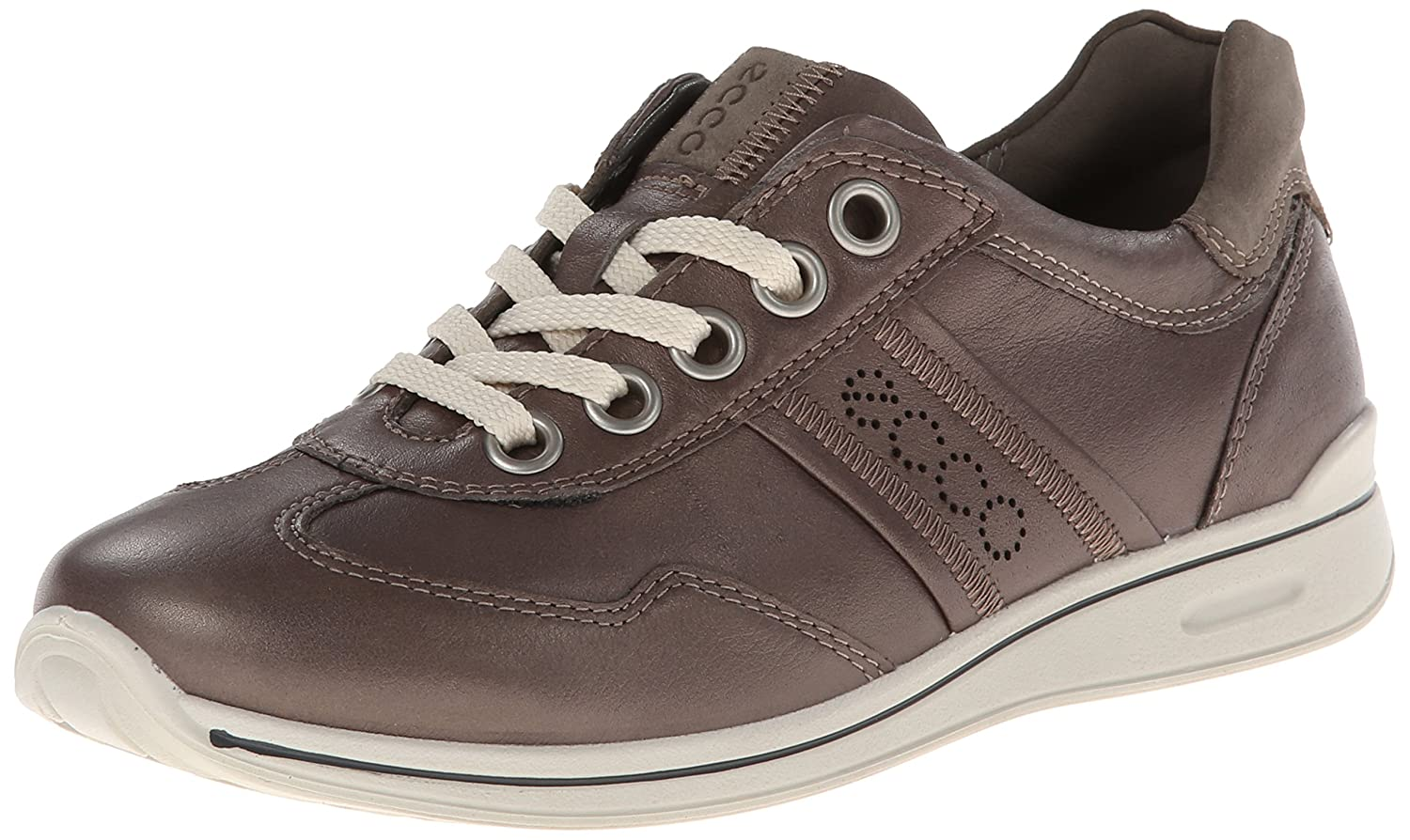 ECCO Women's Mobile II Premium Flat B00HDG5FHM 41 EU/10-10.5 M US|Warm Grey