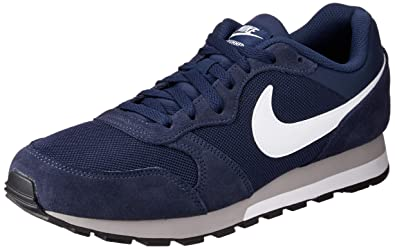 1e9c5623ce Nike MD Runner 2, Baskets mode homme - Bleu (Midnight Navy/White-