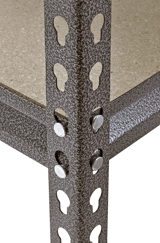 Muscle Rack UR481872PB5P-SV Silver Vein Steel Storage Rack, 5 Adjustable Shelves, 4000 lb. Capacity, 72'' Height x 48'' Width x 18'' Depth (3-Pack) with Towel Cleaner by Muscle Rack (Image #7)
