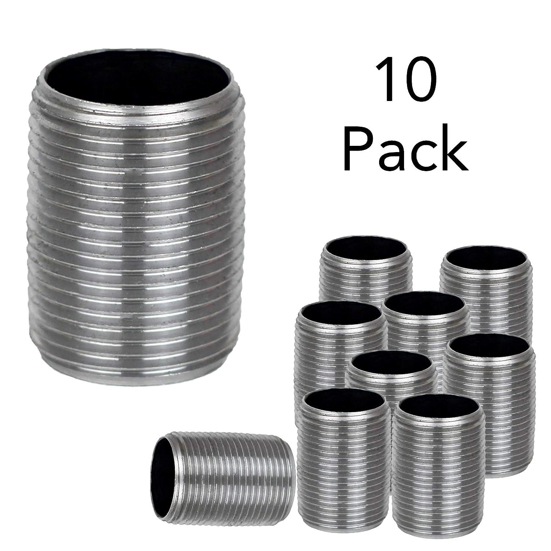 Brooklyn Pipe 10 Pack 1//2 Black Iron Cap