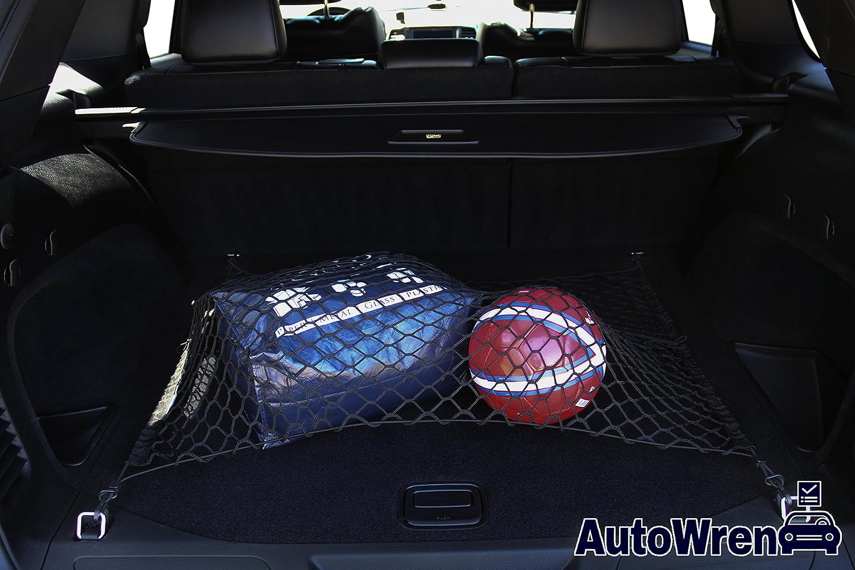 Purses AutoWren 2011 2012 2013 2014 2015 2016 2017 2018 Jeep Grand Cherokee Premium Floor Style Cargo Net and Bonus Headrest Hanger Storage Hooks for Groceries
