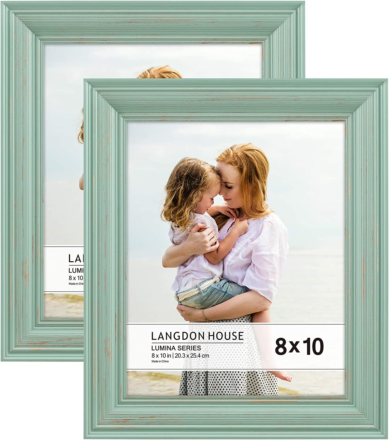 Langdon House 8x10 20x25 Cm Real Wood Picture Frames Eggshell Blue Gold Accents 2 Pack Wooden Photo Frame 8 X 10 Lumina Collection Amazon Ca Home Kitchen