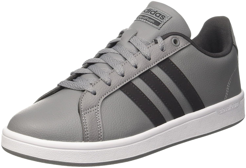adidas Cloudfoam Advantage Herren Sneakers  44 EU Mehrfarbig (Grey Three F17/Utility Black F16/Ftwr White)