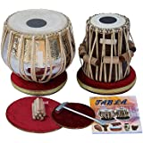 SAI Musicals Tabla Drum Set, Concert Quality, 4.5 Kg Chromed Copper Bayan, Sheesham Tabla Dayan with Padded Bag, Book, Hammer