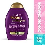 Condicionador Biotin e Collagen, OGX, 250 ml
