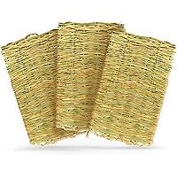 Meric Rabbit Grass Mats, Edible Handwoven Seagrass Floor Pads and Multipurpose Toys, Protects Sensitive Feet, 3 Pcs Per…