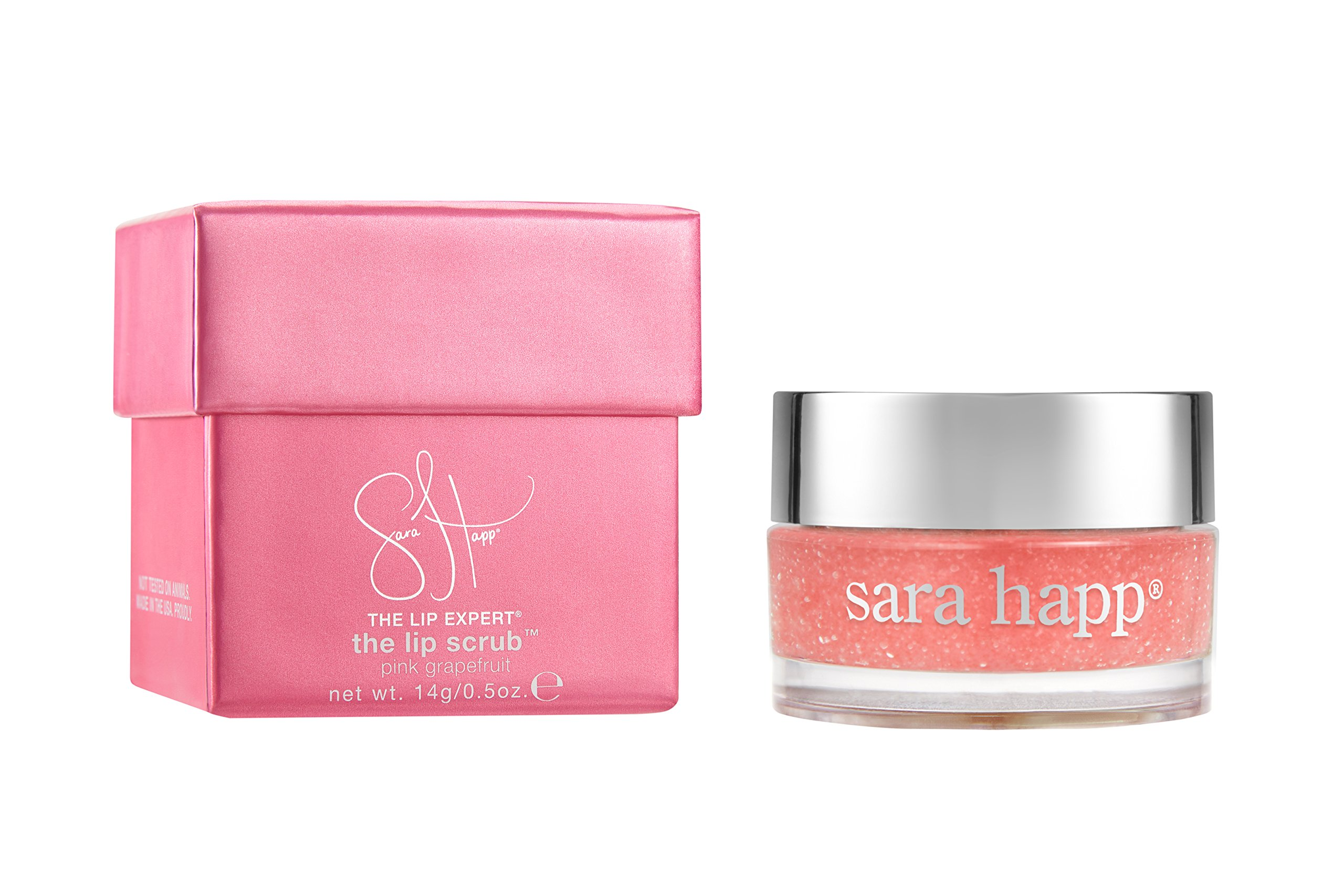 sara happ The Lip Scrub, Pink Grapefruit, 0.5 oz.