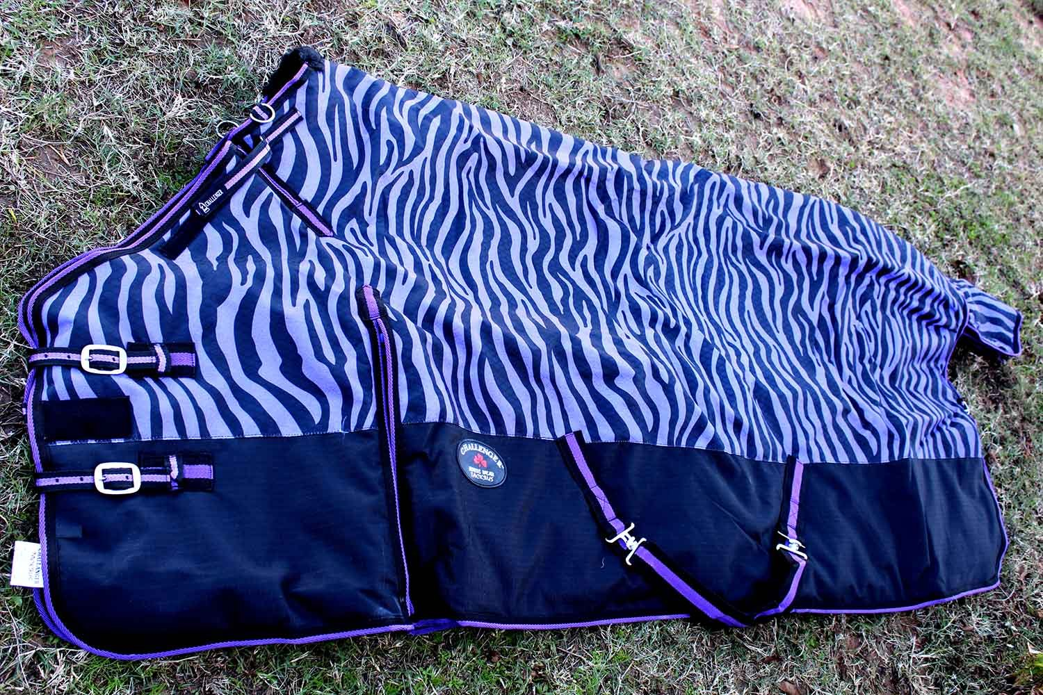 1200d Turnout防水Horse Tough冬ブランケットHeavy Zebra 560 g 68 inches 560G B016LY678W 74 inches  74 inches