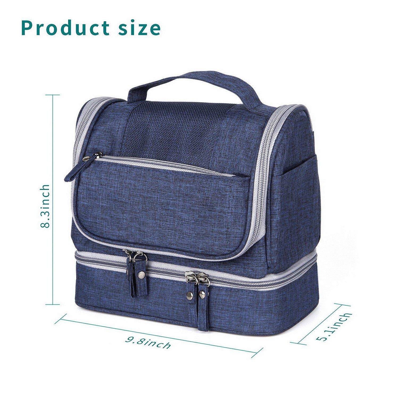 Kimfly Makeup Bag, Cosmetic Bag, Toiletry Bag, Hanging Travel Toiletry Organizer Kit Waterproof Bag for Men or Women