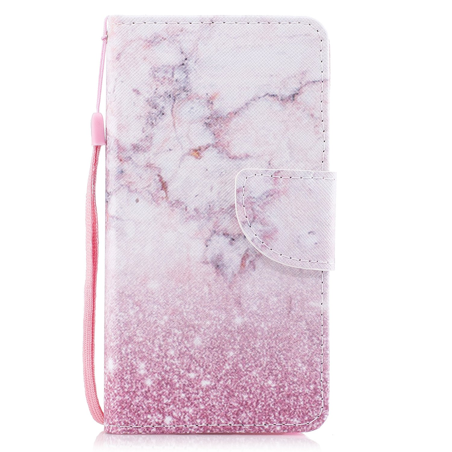 For Samsung Galaxy J3 (2016) Case,Samsung Galaxy J3 (2016) Wallet Case, Ecoway Practical Fultifunction Anti Scratch Flip Fashion Painted pattern design PU Leather Stand Function Card Holder and ID Slot Case Cover Protective Skin Cover for Samsung Galaxy J