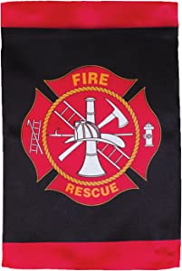 In the Breeze Fire and Rescue Lustre Garden Flag