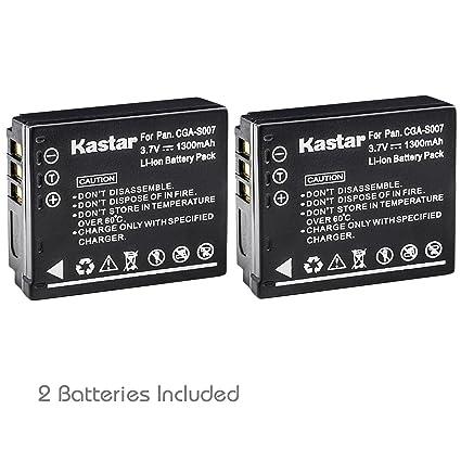 Kastar Battery (2-Pack) for Panasonic Lumix CGA-S007, CGA-S007A, CGA-S007A/1B, CGA-S007E, DMW-BCD10, DE-A25, DE-A26 & Lumix DMC-TZ1, DMC-TZ2, DMC-TZ3, ...