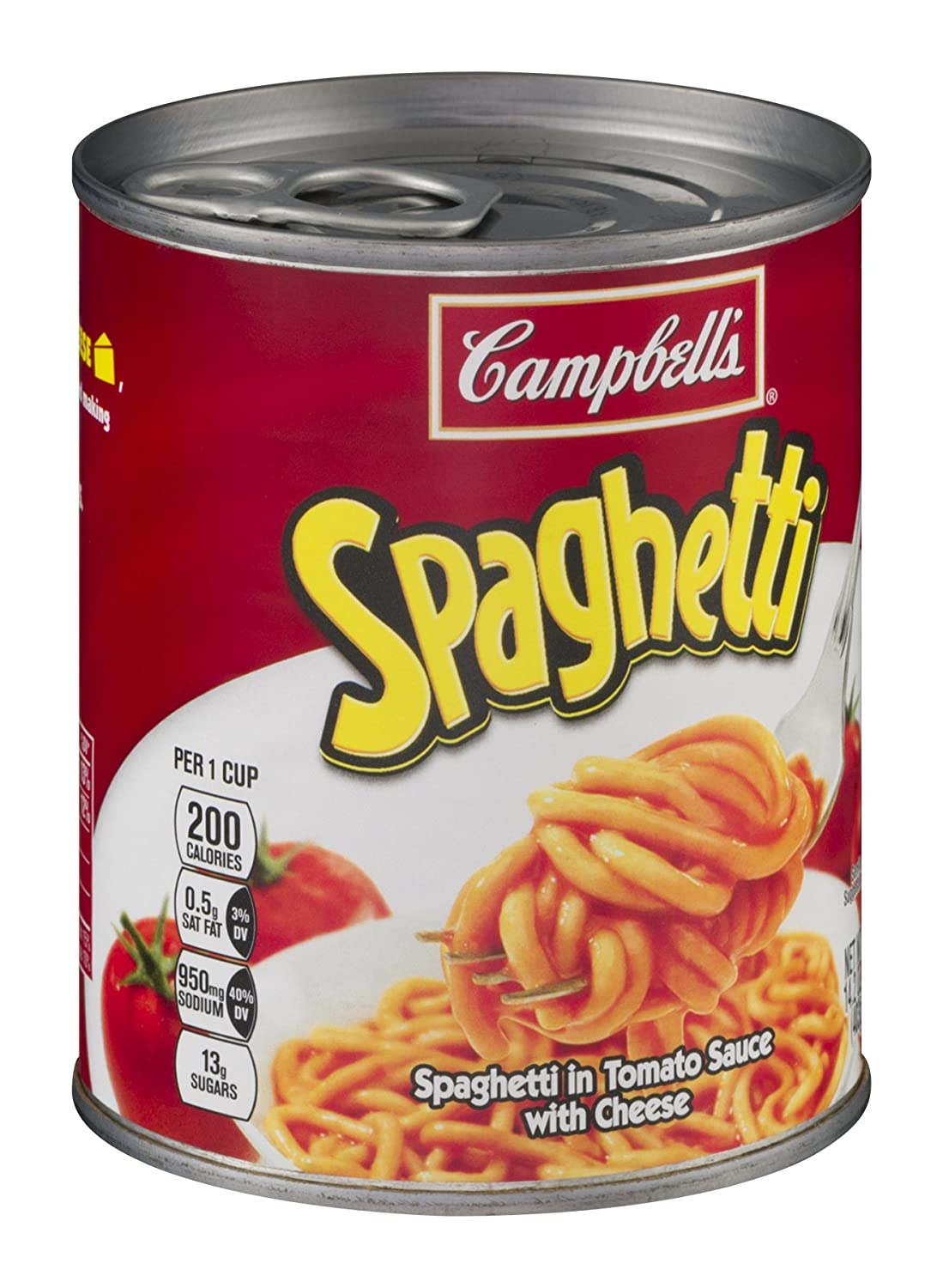 Amazon.com : Campbell's, Spaghetti in Tomato Sauce with Cheese ...