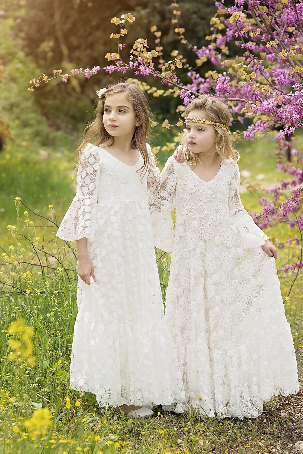 Amazon Com First Communion Dress Flower Girl Off White Lace Dress