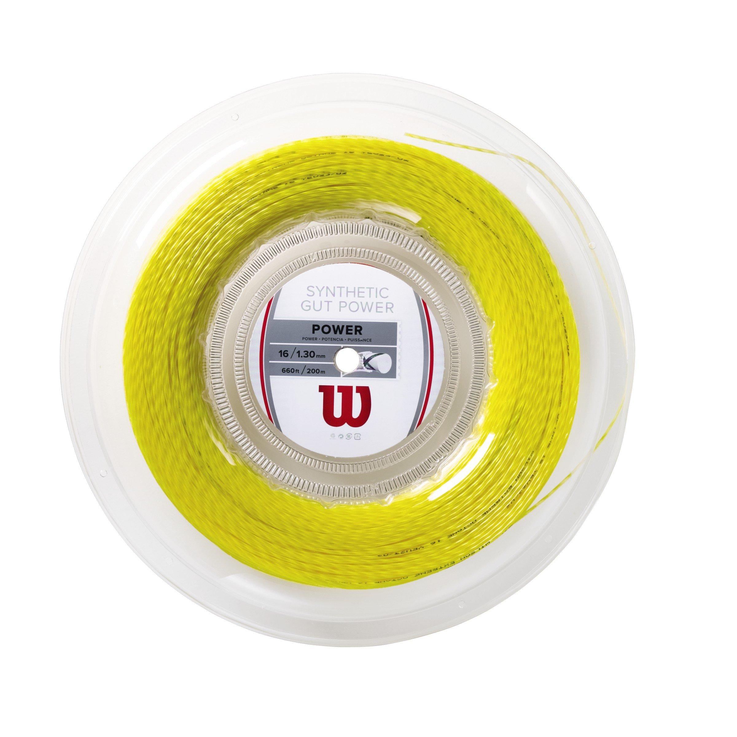 Wilson Synthetic Gut Power 660-Feet Reel, Gold, 16