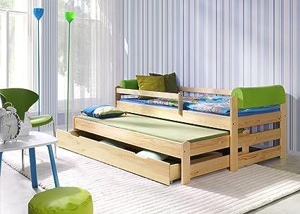 Para cama de niños, Doblo Ausziebett 180 x 80, de madera ...