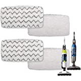 F Flammi 4 Pack 1252 Vac & Steam Mop Pad for Bissell PowerFresh Vac & Steam 2747A, 1132 1543 1632 1652 Symphony Vacuum and St