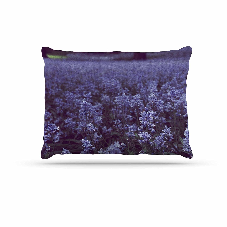 KESS InHouse Ann Barnes Fire & Ice Flower Red Teal Bokeh Dog Bed, 30  x 40