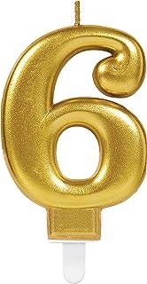Carpeta Zahlenkerze Zahl 8 In Gold Mit Steckfuß Ca