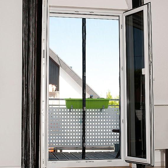 PEARL Insektenvorhang Selbstschließendes Fliegennetz für Türen mit 82-86 cm...