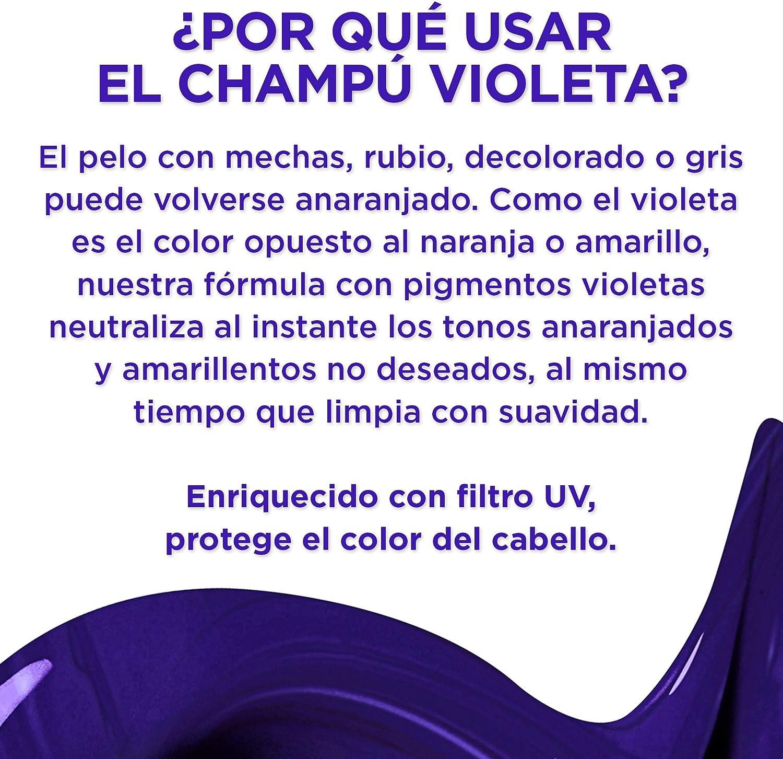LOreal Paris Elvive Color Vive Champú Violeta Matizador, Para Pelos Teñidos, Rubios, Decolorados o Grises, Pack de 3 Unidades x 200 ml , Total: 600 ...