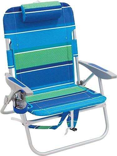 Rio Beach Big Boy Folding 13 High Seat Backpack Beach Or Camping Chair
