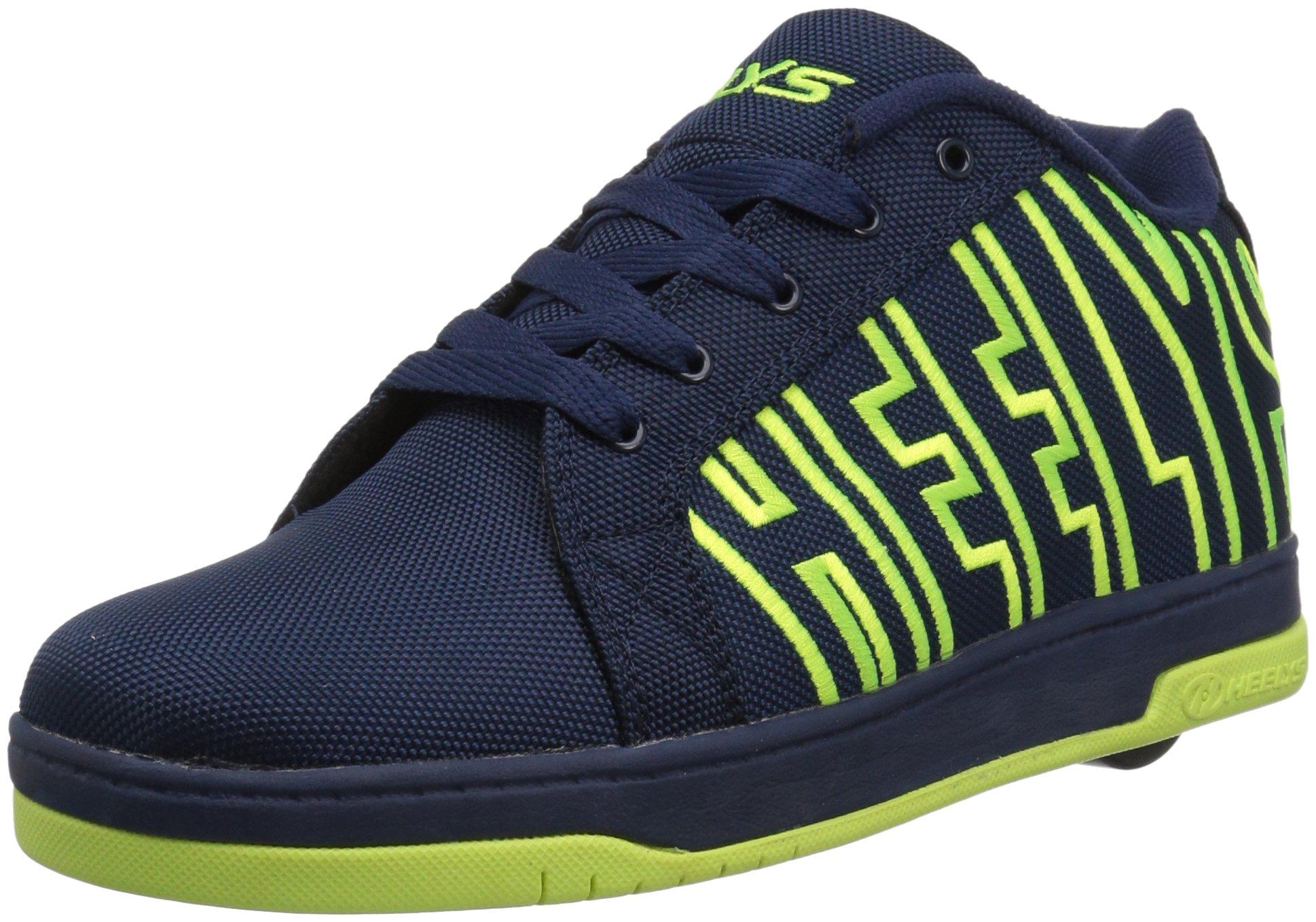 Heelys Split Sneaker, Navy/Bright Yellow, 3 Medium US Big Kid
