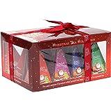English Tea Shop 礼品盒红色带圣诞老人设计尼龙金字塔,24 克