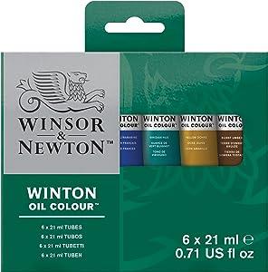 Winsor & Newton Winton Oil Colour Paint Intro Set, Six 21ml Tubes