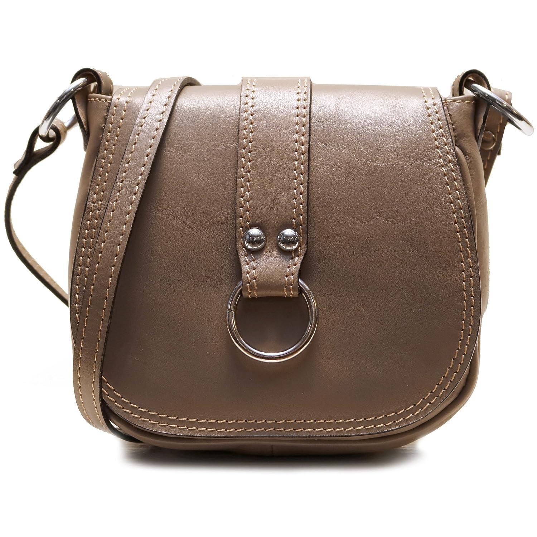 8cca8ed25ba6 Floto Women s Saddle Bag in Grey Italian Calfskin Leather - handbag  shoulder bag  Handbags  Amazon.com
