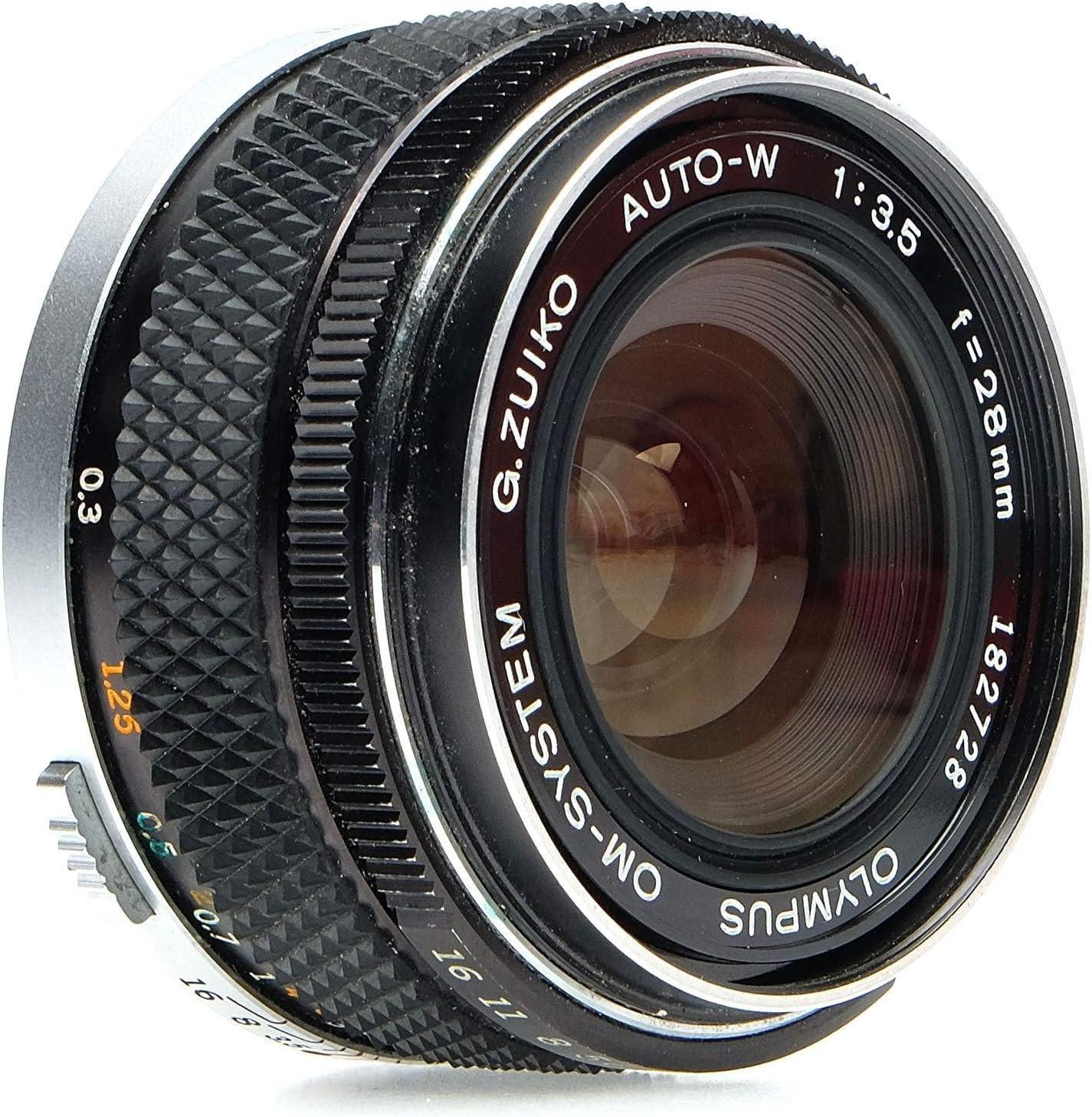Olympus 28mm f//3.5 G.Zuiko Auto-W Manual Focus Wide Angle Lens for OM SLR Film Camera
