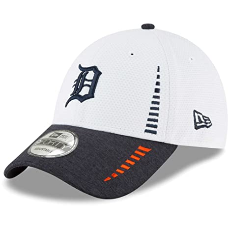 39047e1ec2e Image Unavailable. Image not available for. Color  Detroit Tigers New Era  Speed Tech 9FORTY Adjustable Hat White