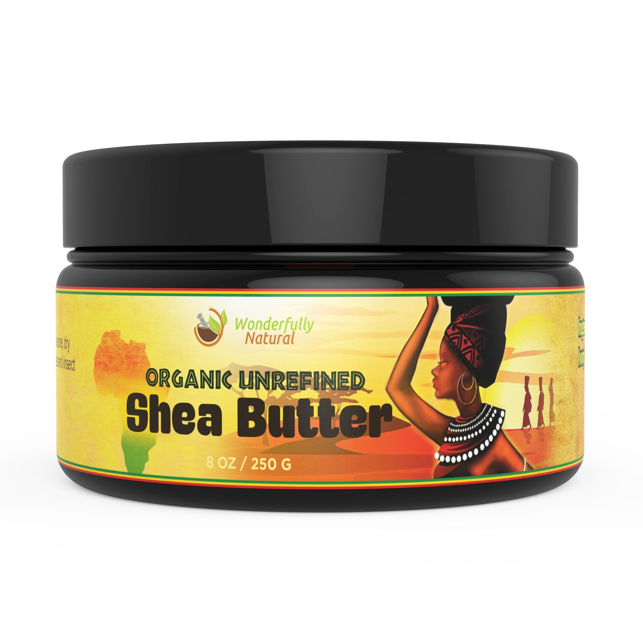 Unrefined Shea Butter - African Organic Ivory & Raw – Use Alone or In DIY Cream, Soap & More! - Vitamins Rich, Natural Healing for Eczema, Stretch Mark, Moisturizing Dry Skin & Hair Care 8 OZ