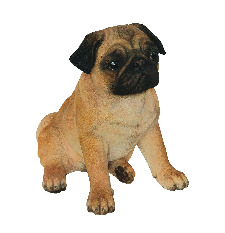 marrone tan Vivid Arts cane pug XRL-Pugg-D resina ornamento