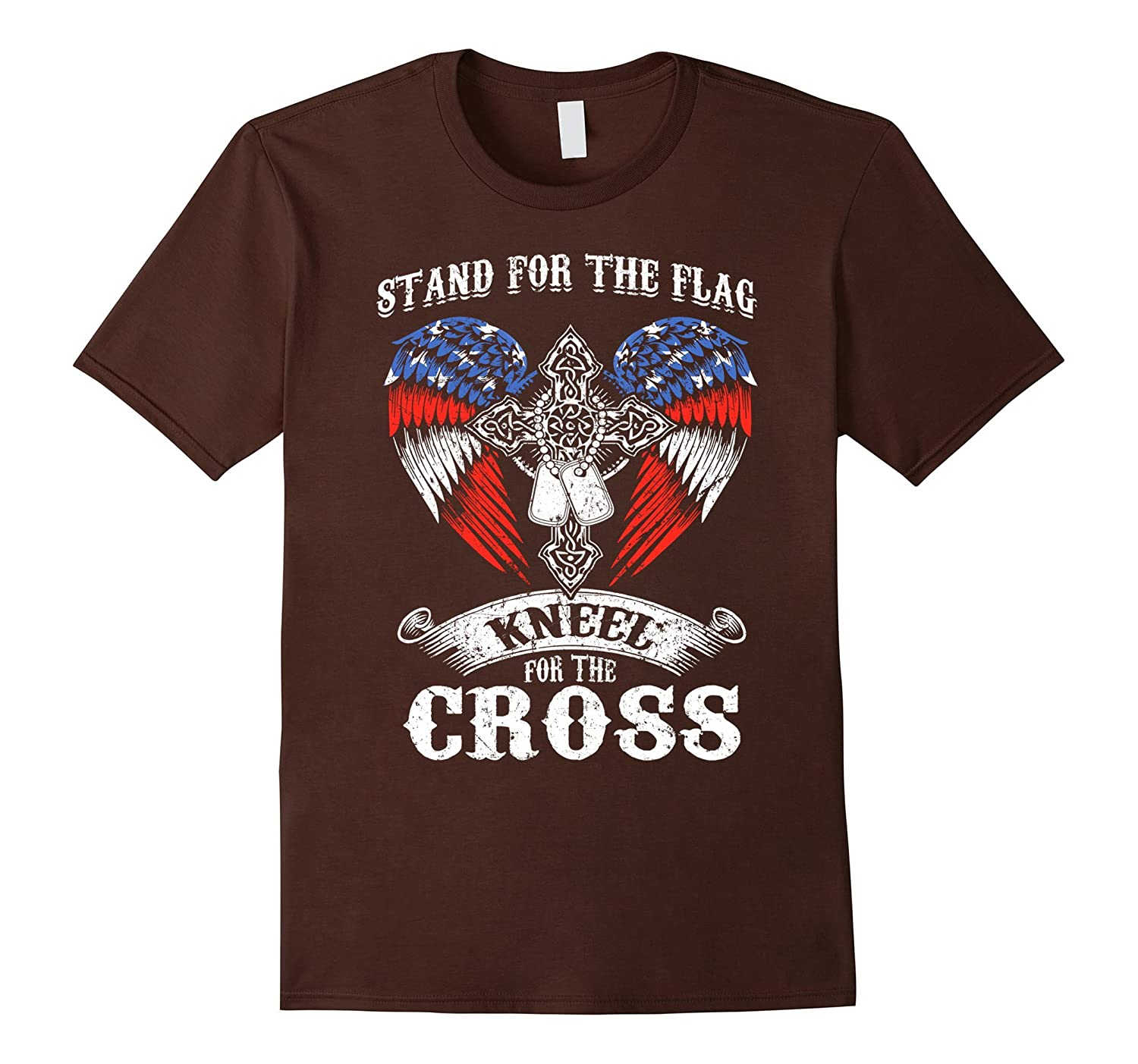 Stand For The Flag Kneel Cross Veteran Military Army Tshirts