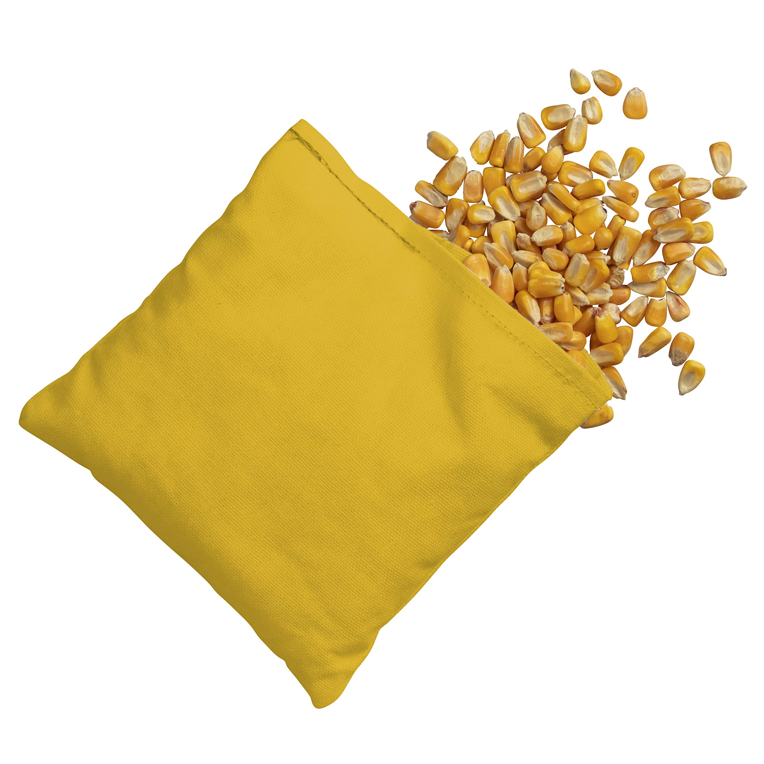 Victory Tailgate 8 Colored Corn Filled Regulation Cornhole Bags with Drawstring Pack (4 Black, 4 Yellow) by Victory Tailgate (Image #3)