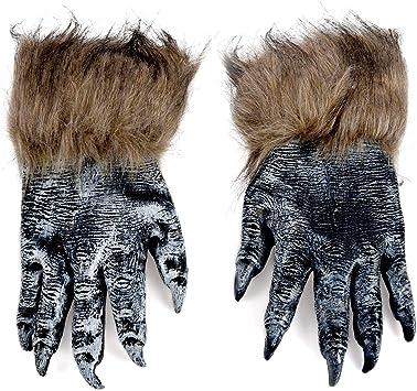 REFURBISHHOUSE 1 par Guantes de Lobo Mascara de Halloween Juego de mascaras de Animales Hombre-Lobo Mascarada Lobo (Tamano: L, Color: Negro): Amazon.es: Juguetes y juegos