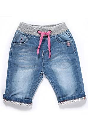 4d72cdf5357 Amazon.com  LITTLE-GUEST Baby Girls  Blue Knee-Length Jeans Shorts ...