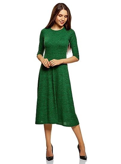4d2f52eee3 oodji Ultra Femme Robe Mi-Longue Évasée: Amazon.fr: Vêtements et ...