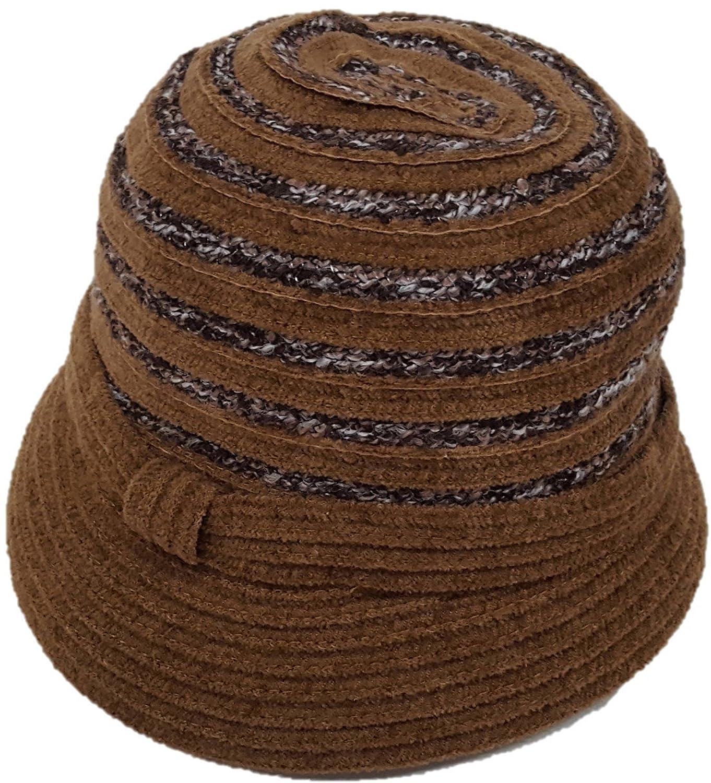 Swan Hat Women's Chenille Ribbon Cloche Stripes Hat