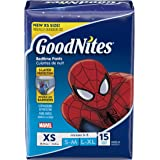 Goodnites New Bedtime Bedwetting Underwear for Boys, 15 bedtime pant each, X-Small, (Pack of 4)