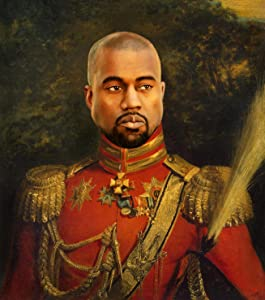 Kanye West Yeezy Poster - Funny Celebrity Art - Faux Oil Painting Print - Novelty Pop Culture Artwork Gift