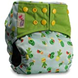 Littles & Bloomz, Reusable Pocket Real Cloth Nappy Washable Diaper BAMBOO CHARCOAL, Pattern 19, With 1 Bamboo Insert