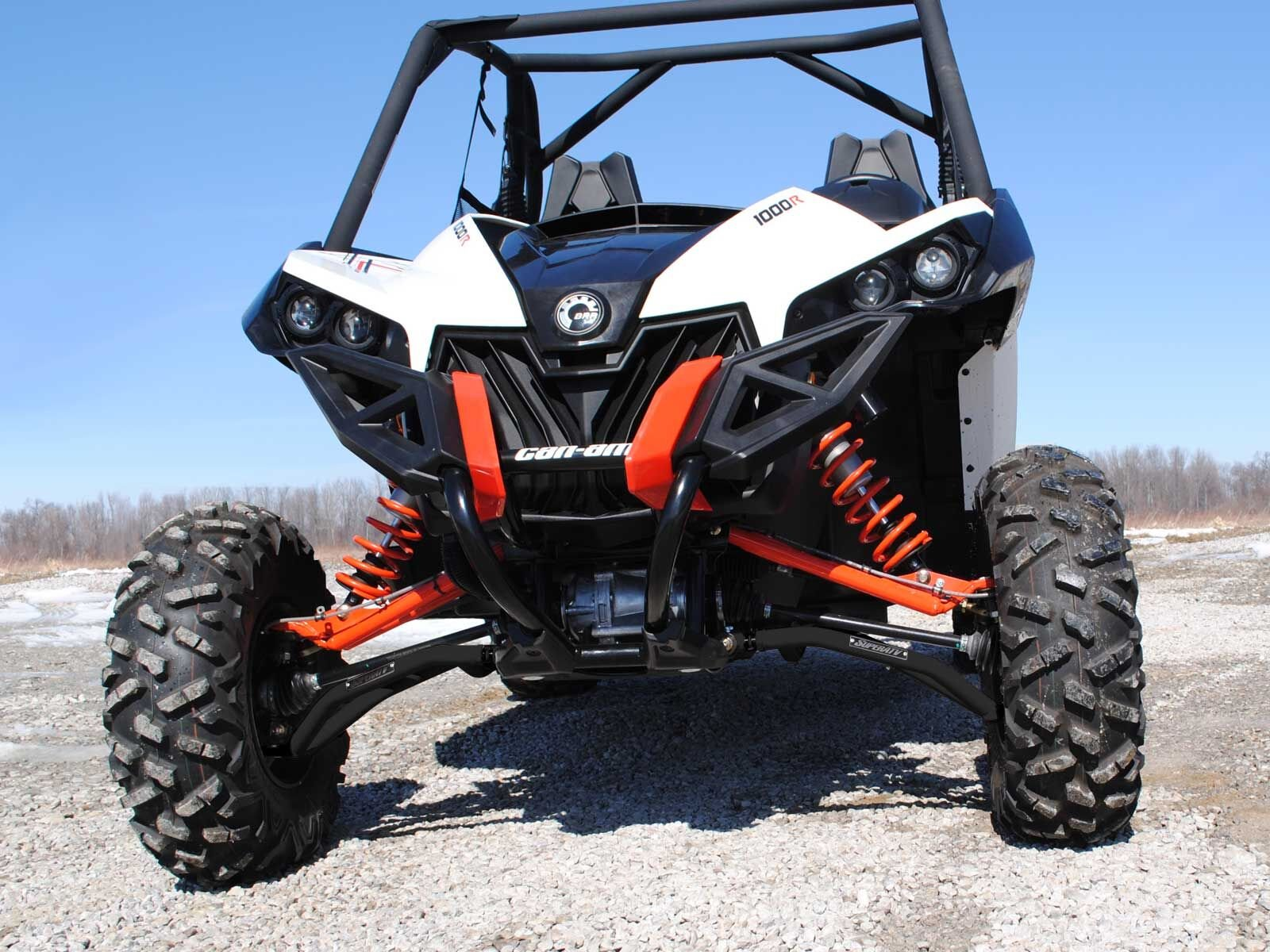 SuperATV High Clearance Front A-Arms for Can-Am Maverick DPS/XMR/XRS/MAX/Turbo (See Fitment) - Black by SuperATV.com (Image #4)