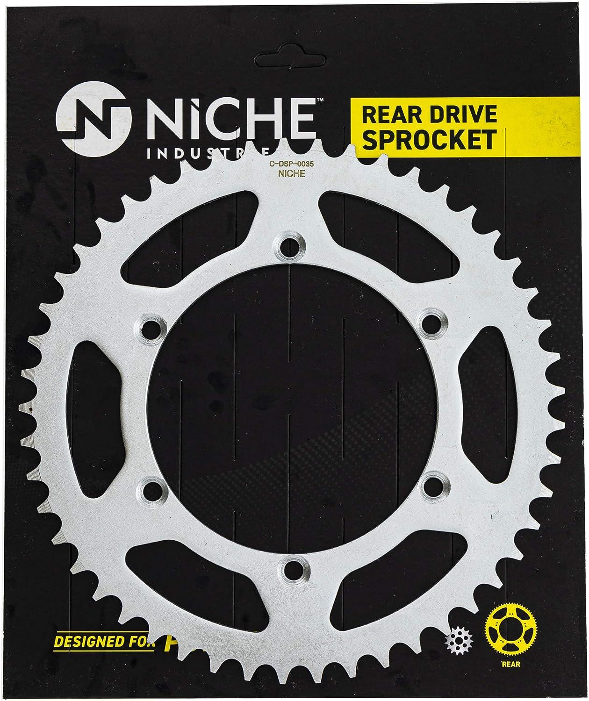 NICHE Drive Sprocket Chain Combo for Kawasaki 1999-2002 KX250 Front 14 Rear 49 Tooth 520NZ Standard 114 Links
